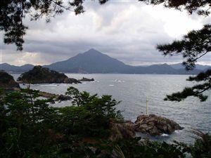 城山公園から見た青葉山